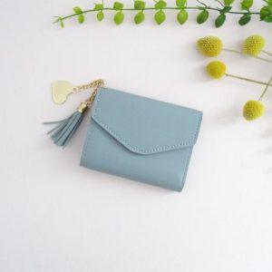 Portefeuille Alice bleu pastel