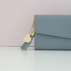 Portefeuille Louise bleu pastel